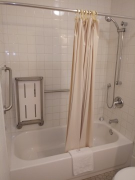 Welcome To EZ 8 Motel Newark California - Accessible Private Bathroom